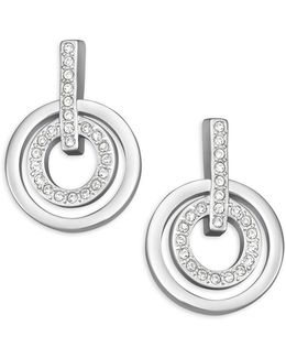 Crystal Pave Double Circle Earrings
