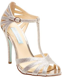 Tee Open Toe T-strap Sandals