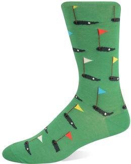 Golf Tee Knit Socks