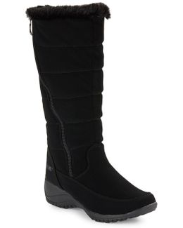 Abby Faux Fur-accented Mid-calf Boots