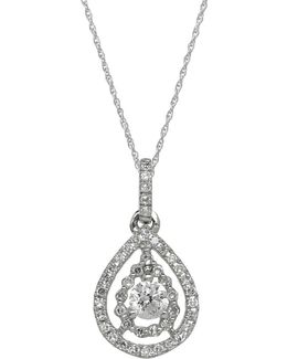 14kt White Gold And Diamond Pendant Necklace