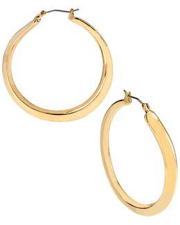 Gold Plated Sculptural Hoop Earrings
