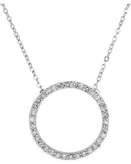 Diamond & 14k White Gold Pendant Necklace
