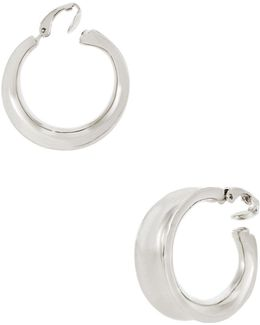 26mm Concave Hoop Clip-on Earrings