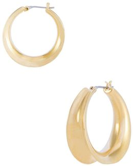 26mm Concave Hoop Earrings