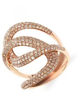 Diamond And 14k Rose Gold Ring, 1.73 Tcw