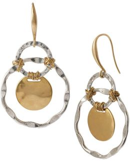 Two-tone Orbital Drop Earrings