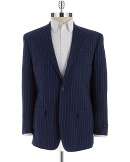 Two Button Pinstriped Blazer