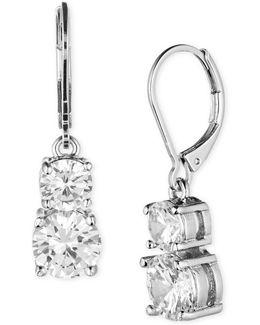 Silvertone Glitz Drop Earrings