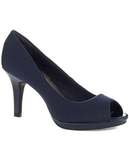 Supermodel Peep Toe Pumps
