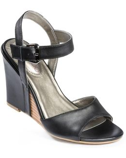 Lucie Leather Wedges