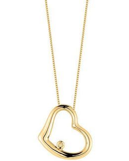 Tiny Treasures Baby Heart Diamond And 18k Yellow Gold Pendant Necklace