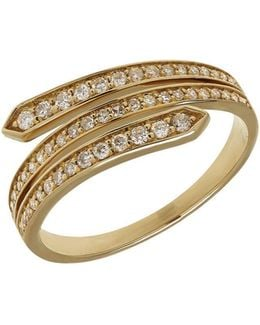Diamond And 14k Yellow Gold Ring