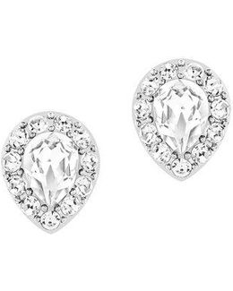 Christie Crystal Oval Stud Earrings