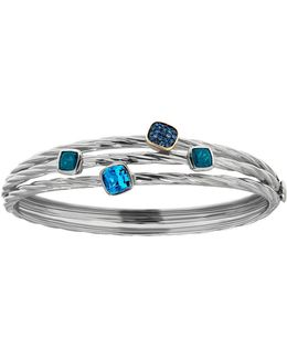 Sterling Silver And Topaz Bangle Bracelet