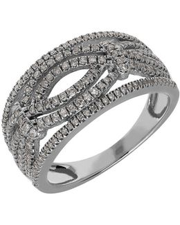 Diamond And 14k White Gold Ring, 0.5tcw