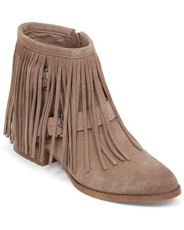 Capricorn Fringe Suede Ankle Boots