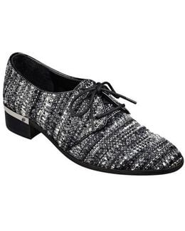 Emale Tweed-Effect Oxford Shoes
