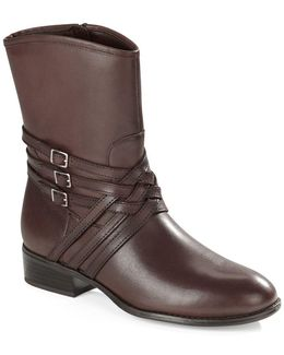 Maya Leather Ankle Boots