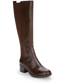Balmana Leather Knee-high Boot