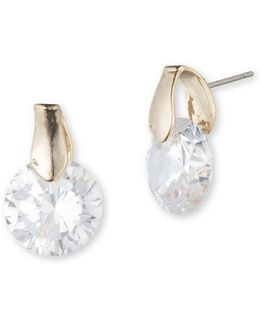 Goldtone Cubic Zirconia Earrings