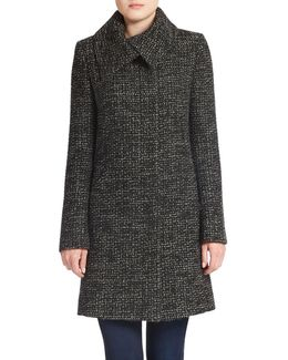Tweed Wool-blend Coat