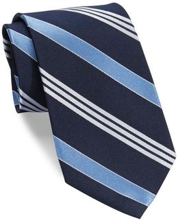 Striped Silk Twill Tie