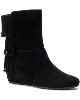 Tricia Suede Wedge Boots