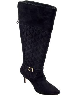 Jabine Quilted Suede Boots