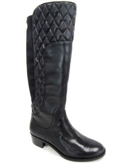 Keith Quilted Leather Mid-calf Boots