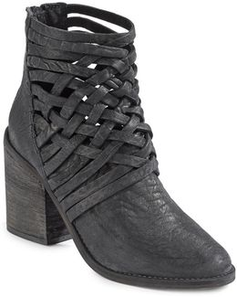 Carrera Woven Leather Ankle Boots