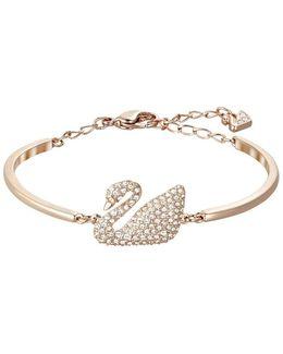 Swan Crystal Bangle Bracelet