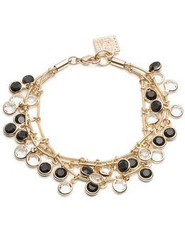 Black And White Dangling Stone Bracelet