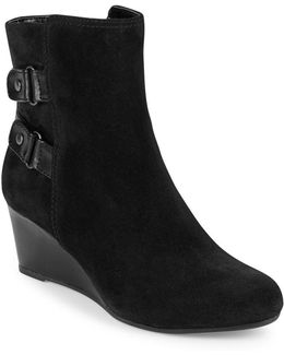 Ariona Suede Wedge Ankle Boots