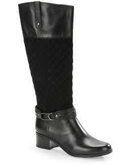 Cabbey Quilted Riding Boots