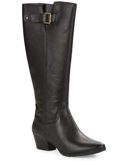 Tadao Leather Knee High Boots