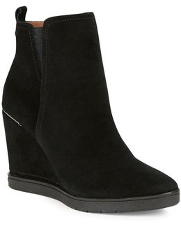 Cascade Suede Wedge Ankle Boots