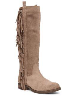 Daltton Fringe-trimmed Suede Boots