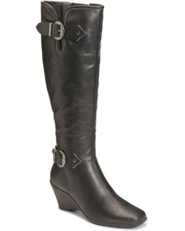Wonderful Faux Leather Boots