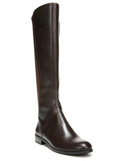 Maleni Knee-high Stretch Faux Leather Boots
