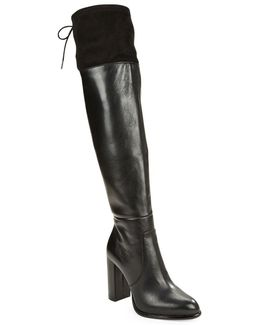 Calina Suede And Leather Boots