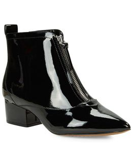 Robrey Patent Leather Ankle Boots