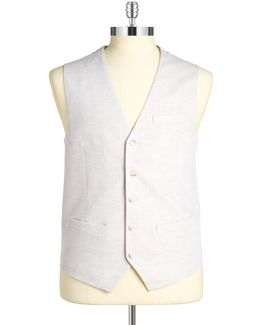 Linen-blend Vest