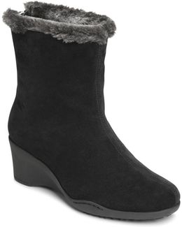 Attorney Faux Fur-trimmed Ankle Boots