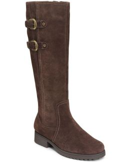 Love Note Suede Knee-high Boots