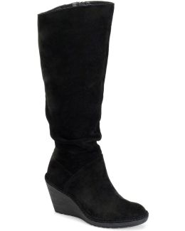 Calida Slouchy Suede Knee-high Wedge Boots