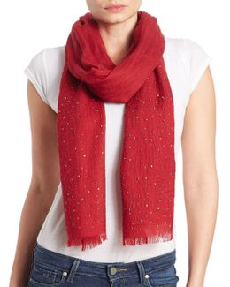 Wool Embellished Scarf