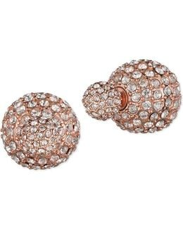 Two-way Pave Stud Earrings