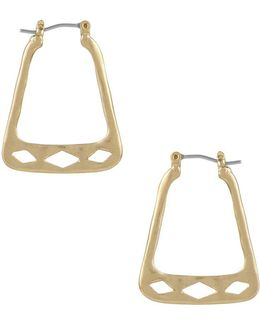 Pierced Trapezoid Hoop Earrings
