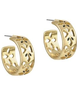 Pierced Hoop Earrings/1-inch